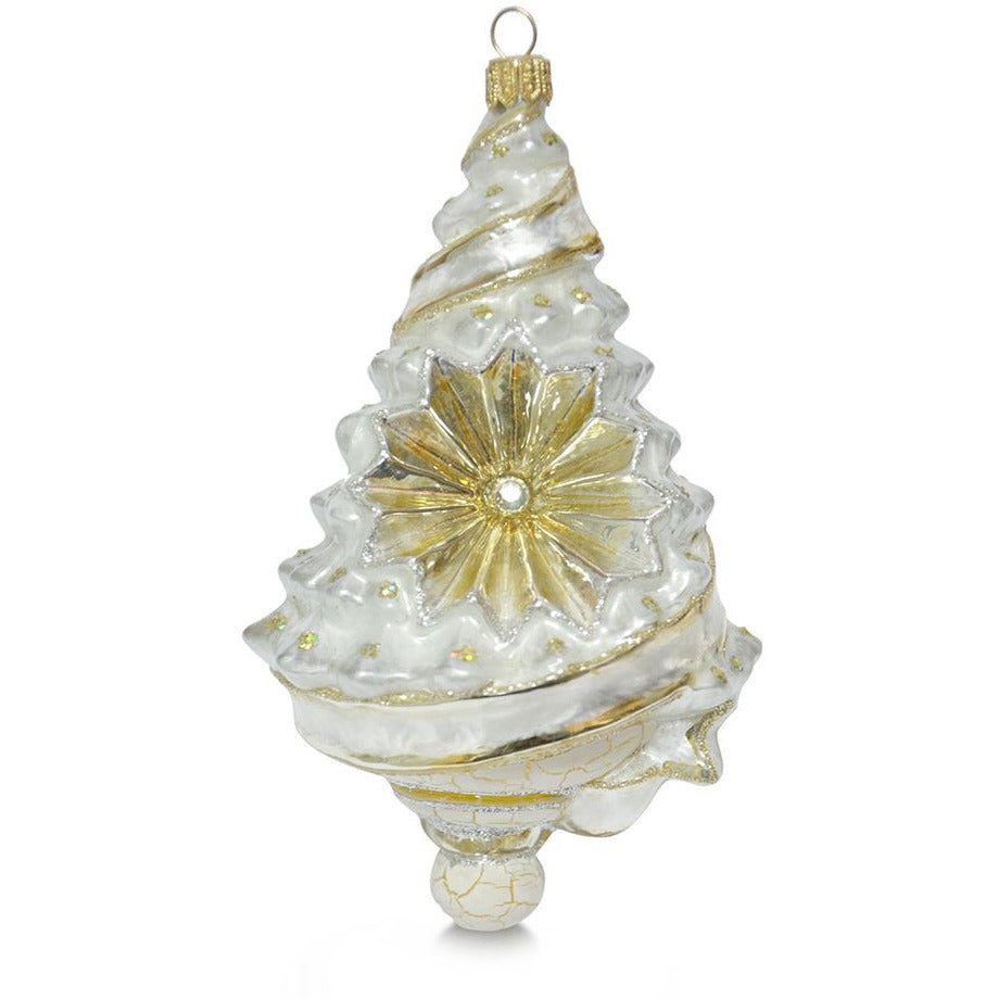 Snowy Tree Reflector Ornament