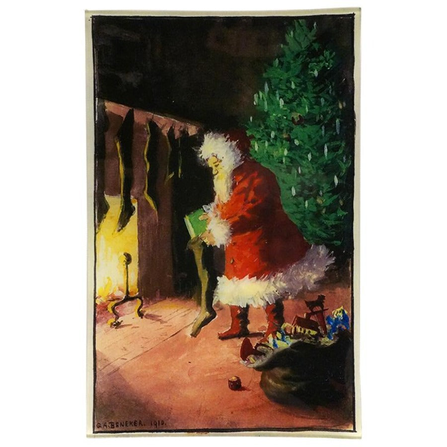 Painted Santa Wall Tray