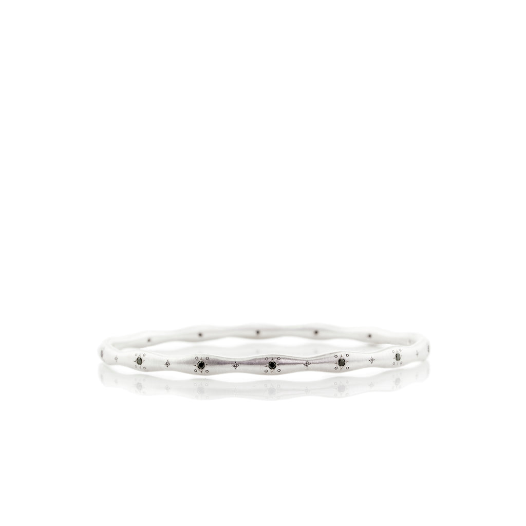 Adel Chefridi Stepping Stone Wavy Diamond Bangle