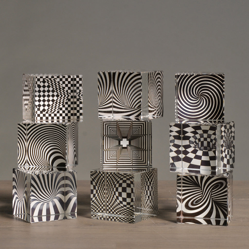 Illusion Cubes, Set of 9 Small