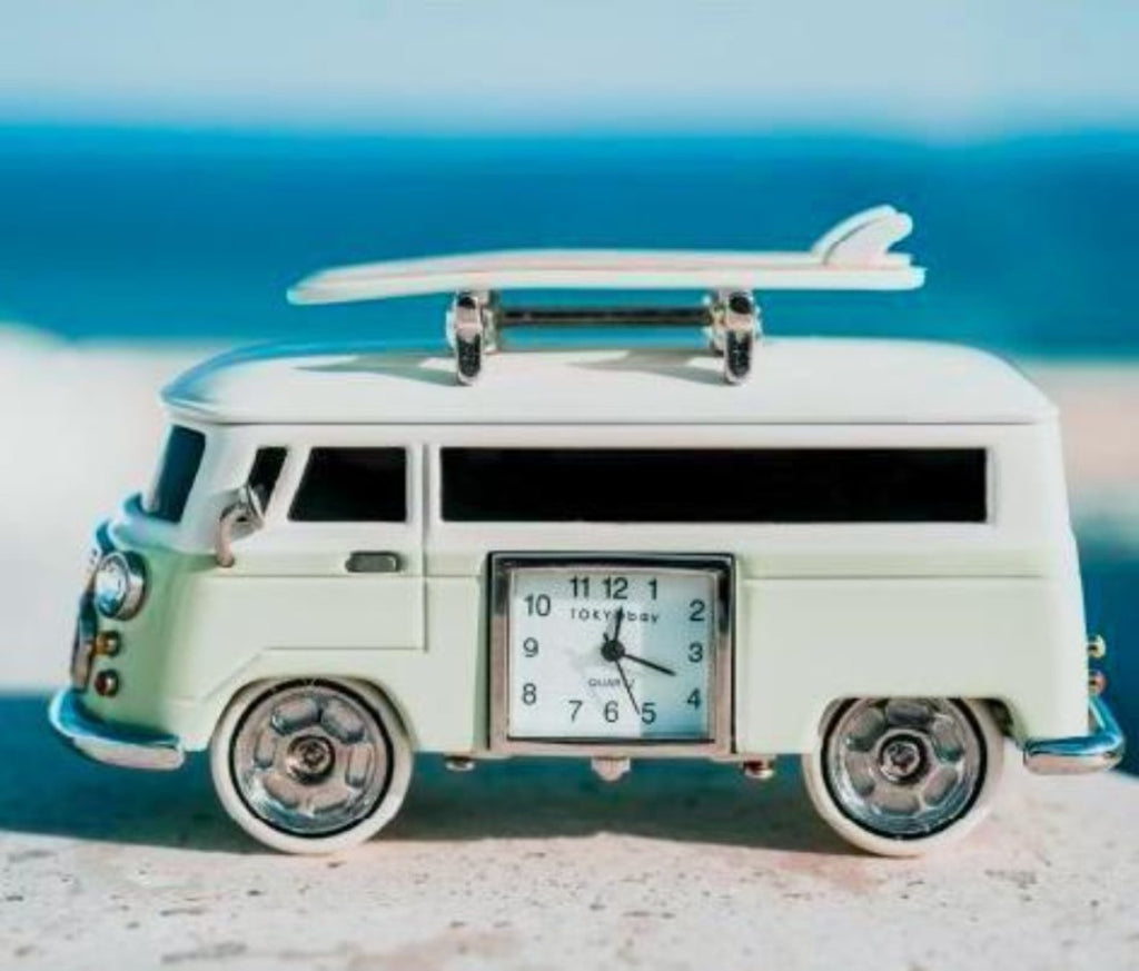 Vintage Van Clock, Light Green