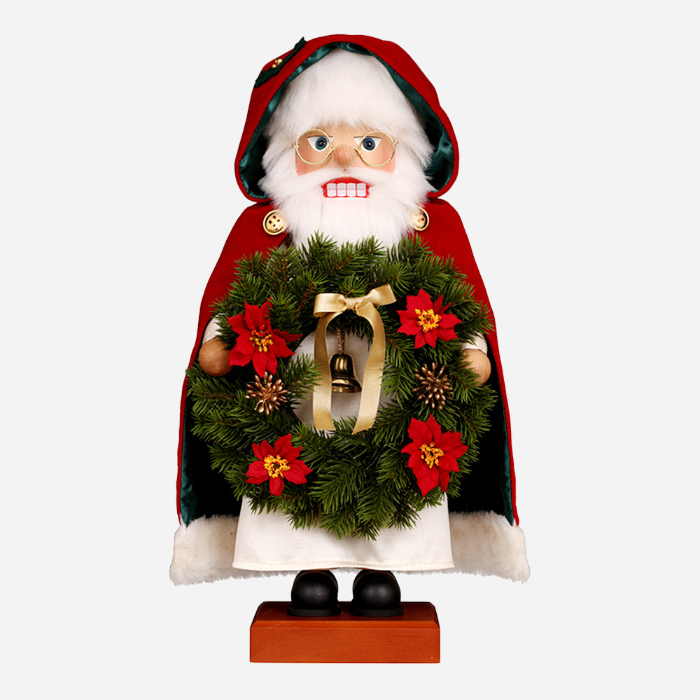 Santa W/ Wreath Nutcracker