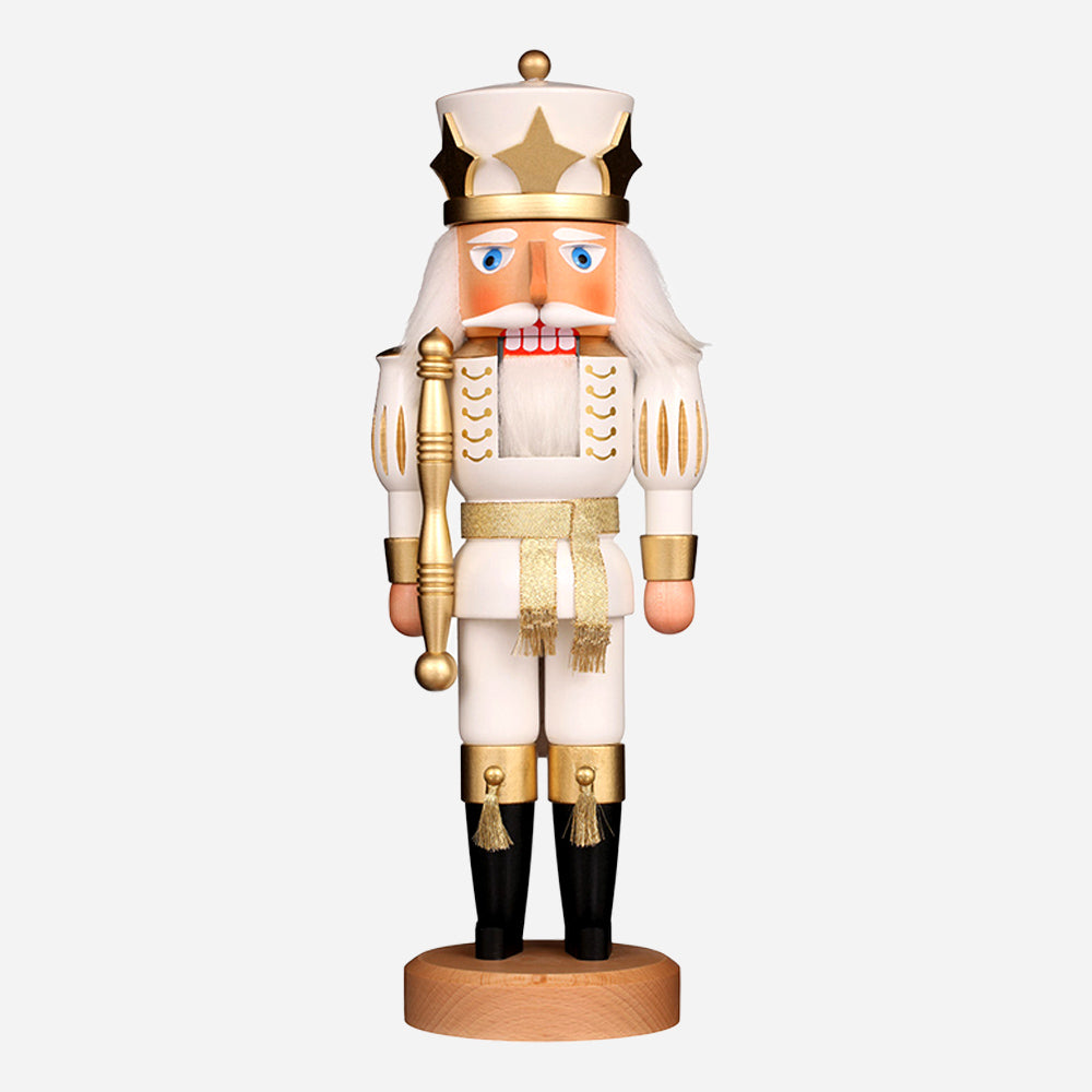 Prince White/Gold Nutcracker