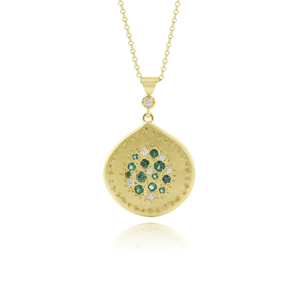 Tidal Pool Emerald & Diamond Pendant