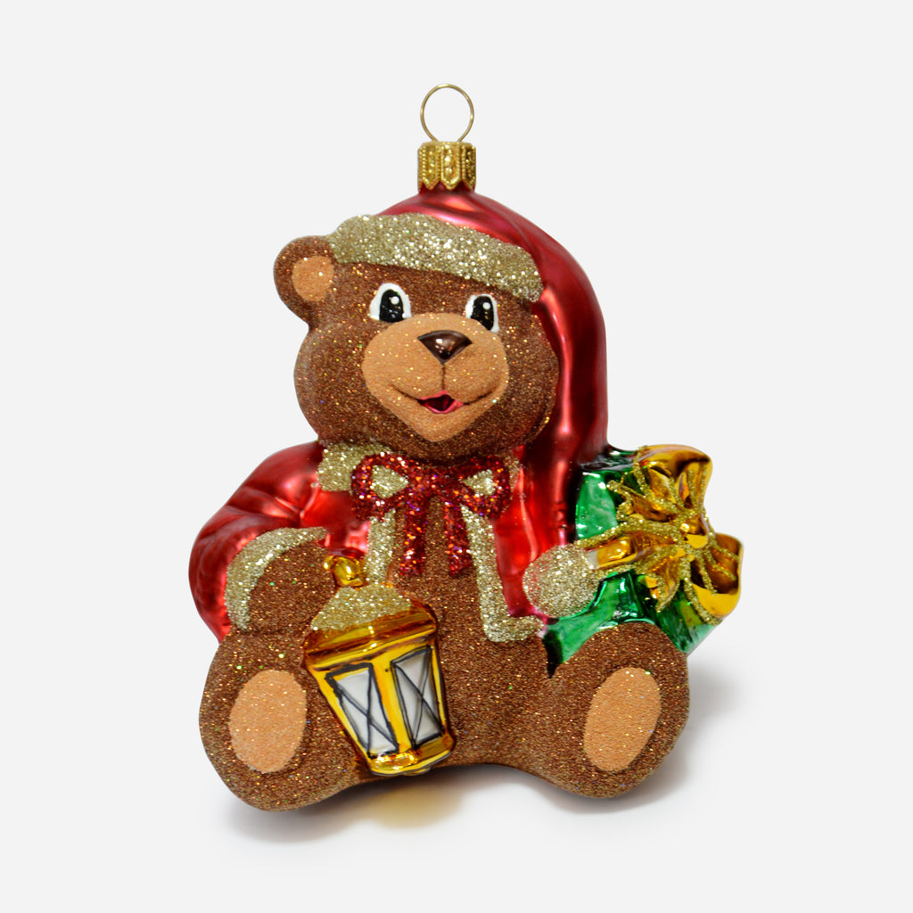 Teddy Bear with Lantern Ornament