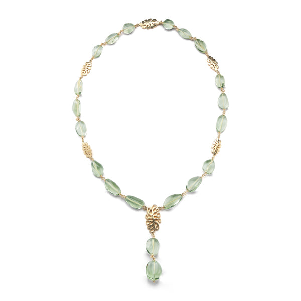 Sea Leaf Green Quartz Necklace