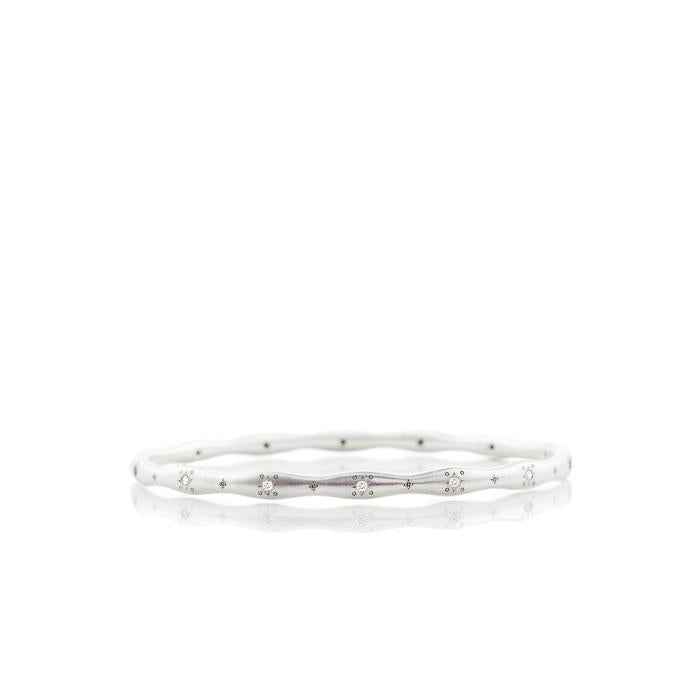 Stepping Stone Wavy Diamond Bangle