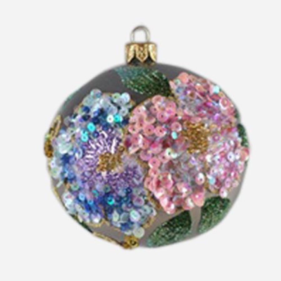 Pastel Flower Ball Ornament