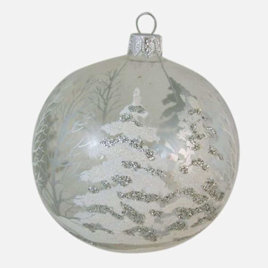White Forest Ball Ornament