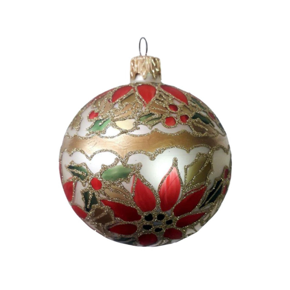 Silver & Gold Holly Ornament