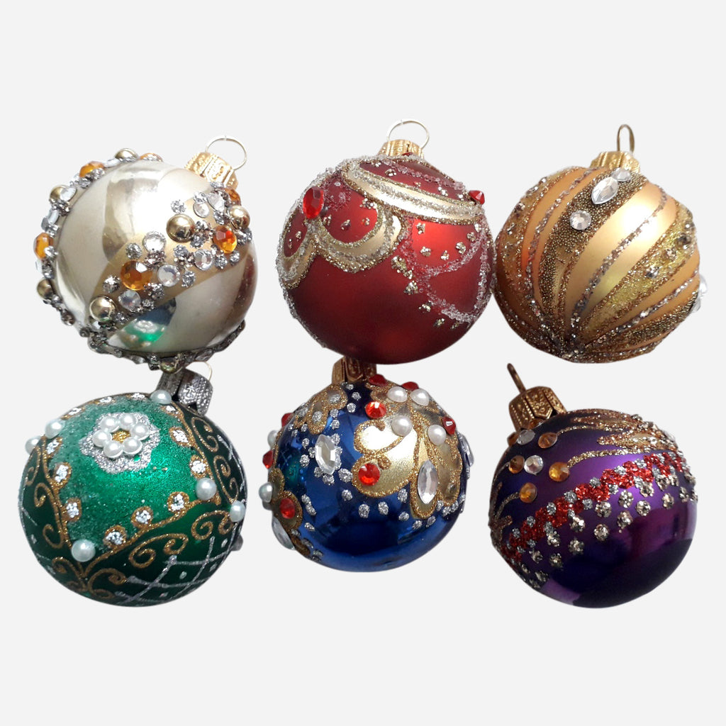 Mini Multicolor Ornaments, Set Of 6