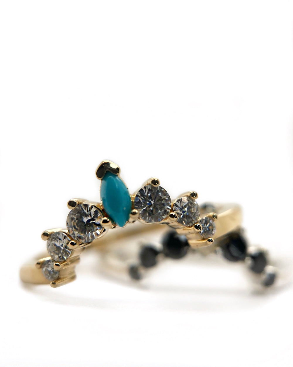 Turquoise Marquise Stacking Band