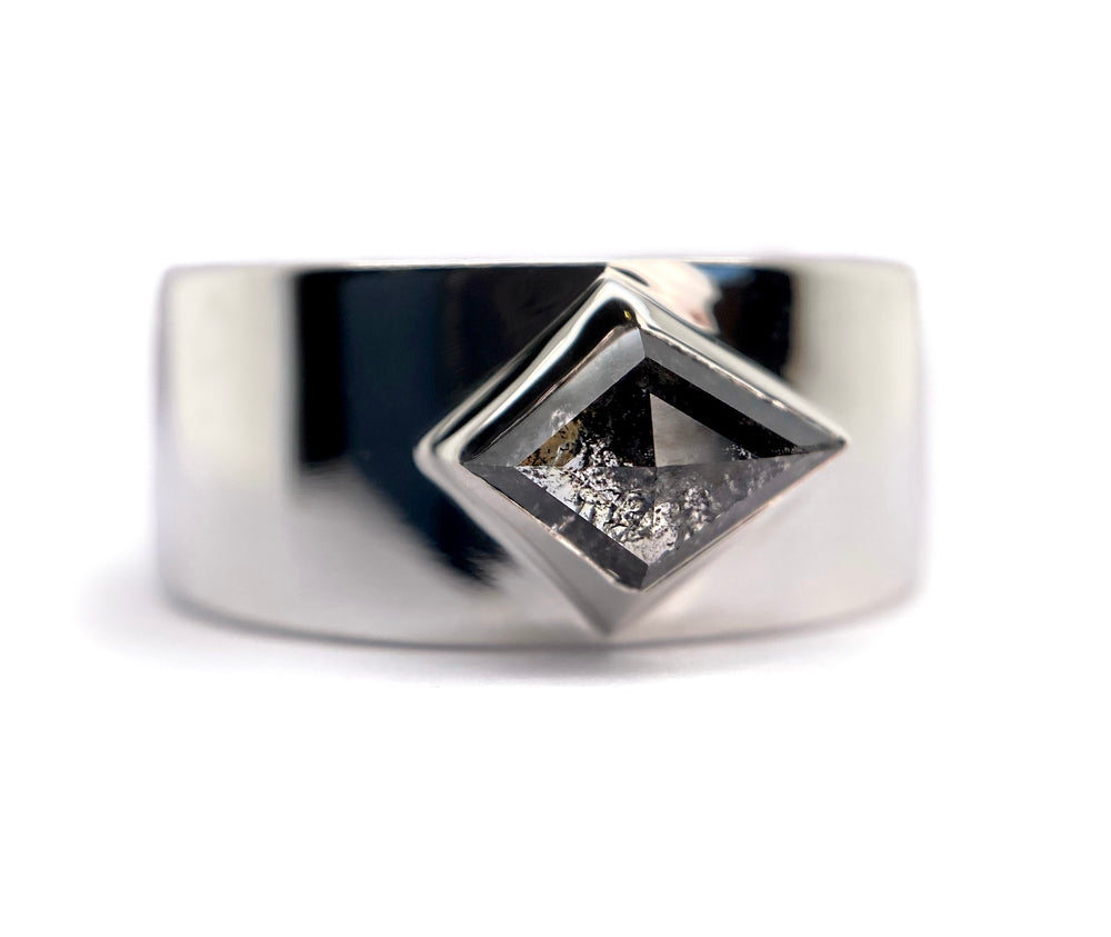 Wide Band Kite Diamond Ring