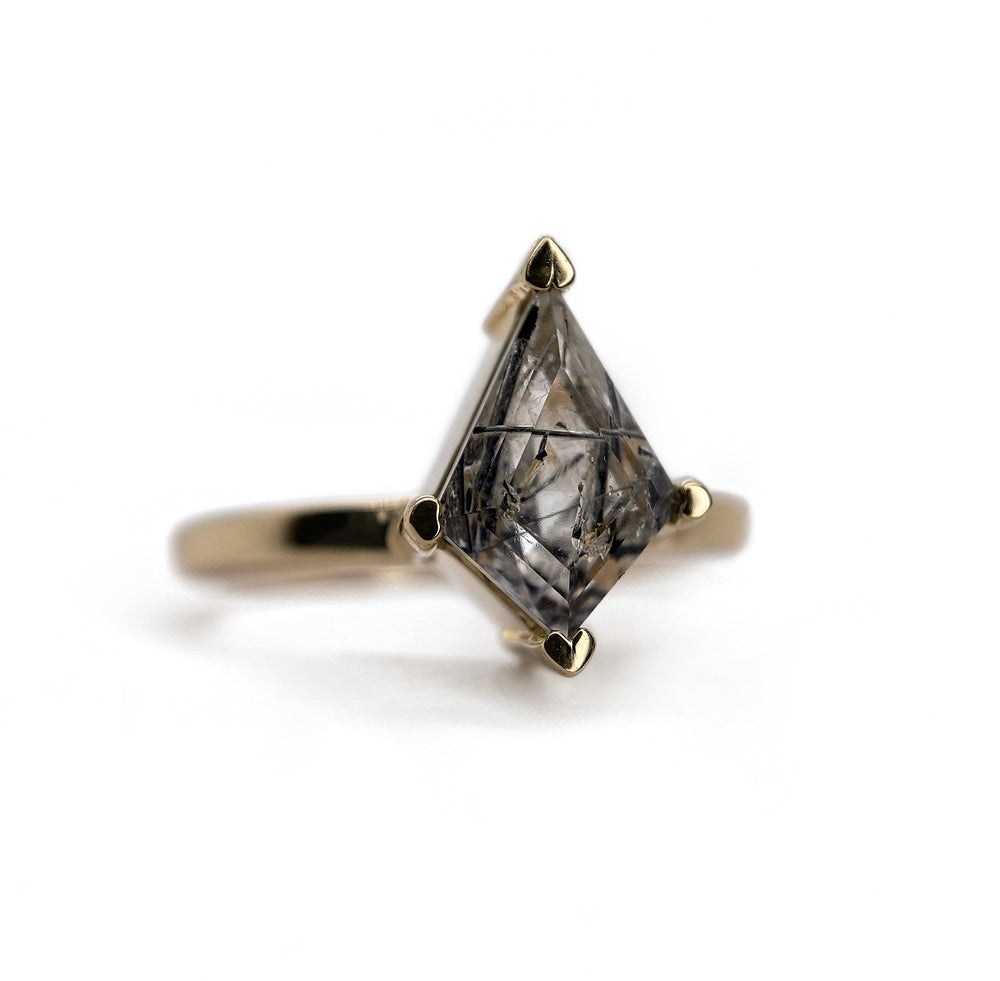 Tourmalinated Quartz Kite Ring