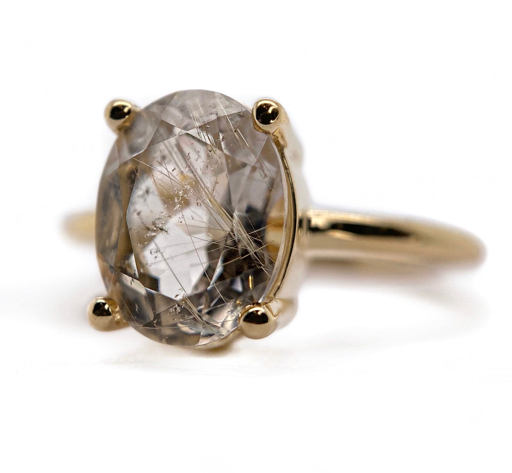 Rutilated Quartz Goldie Ring
