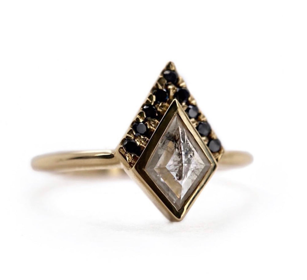 Half Halo Icy Kite Diamond Ring