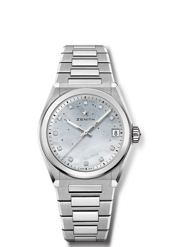 DEFY CLASSIC MIDNIGHT MOTHER OF PEARL DIAMOND DIAL