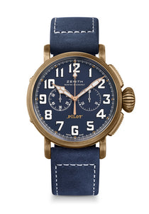 PILOT TYPE 20 CHRONOGRAPH TON UP BRONZE BLUE DIAL
