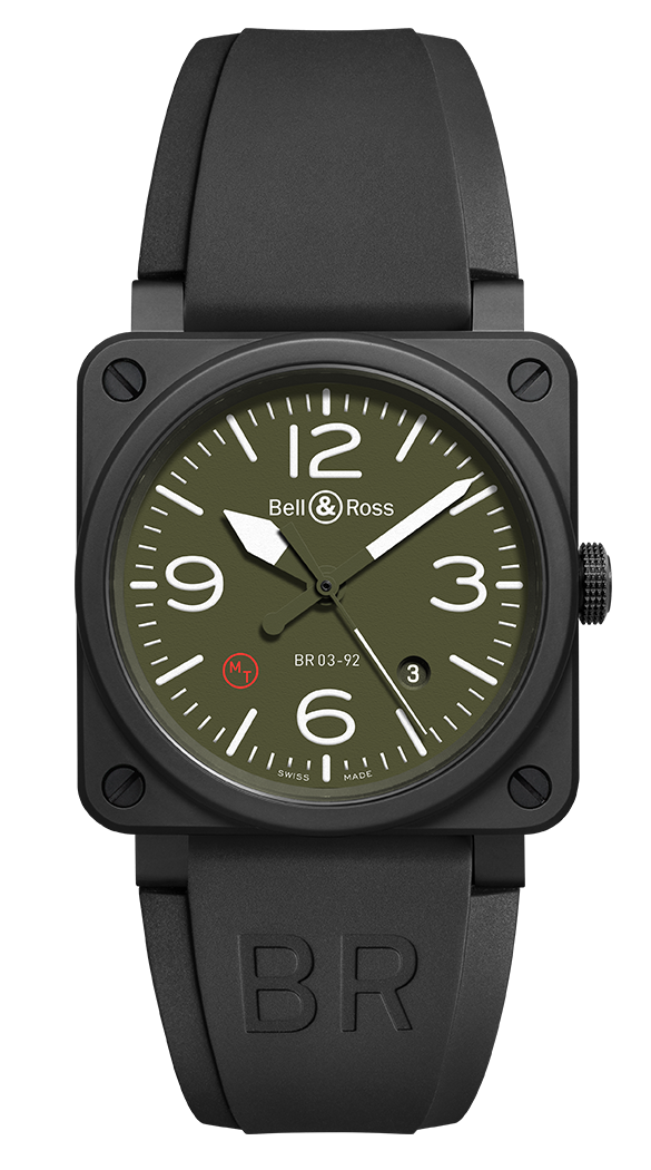 BR03-92 MILITARY TYPE KHAKI BLACK CERAMIC