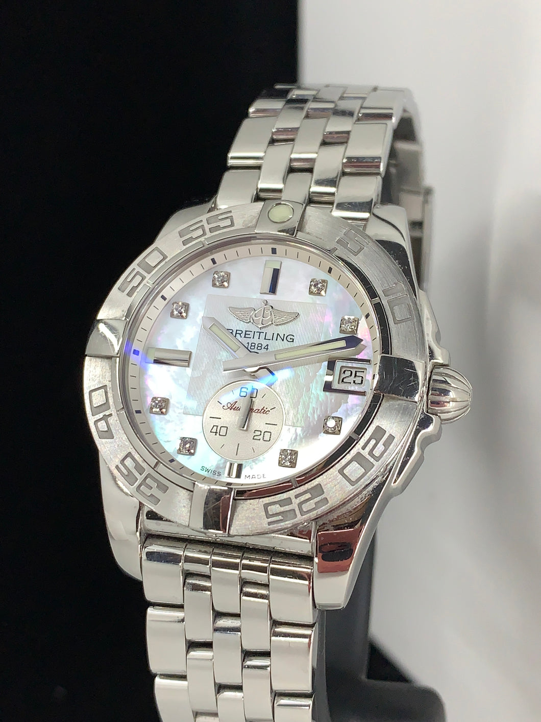 BREILTING GALACTIC 36MM MOP DIAMOND DIAL AUTOMATIC