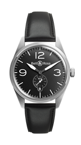 BR123 ORIGINAL BLACK DIAL STEEL CASE