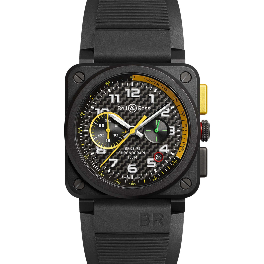 BR03-94 RS17 CHRONOGRAPH BLACK CERAMIC