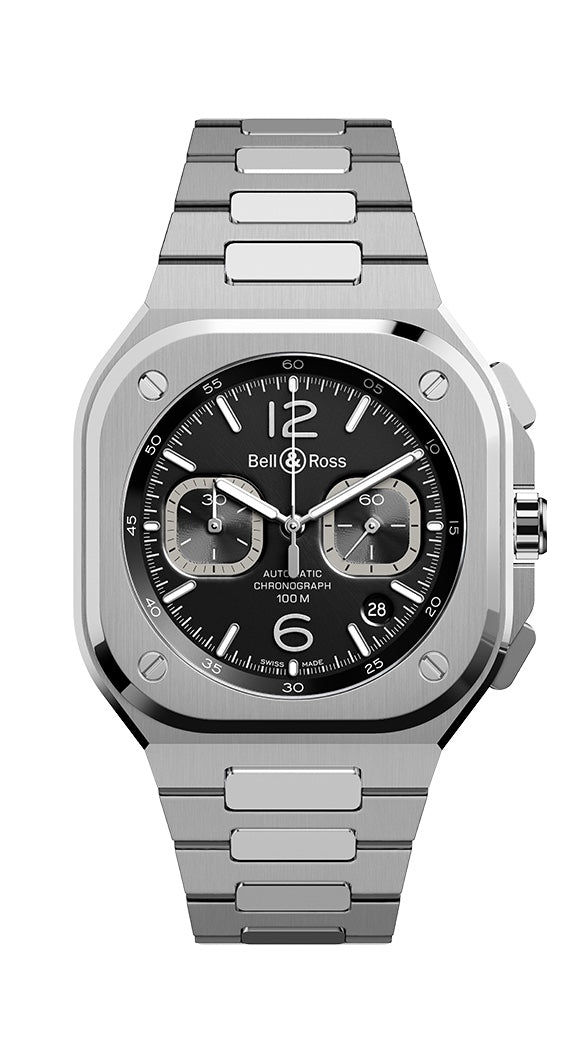 BR05 CHRONOGRAPH BLACK DIAL STEEL
