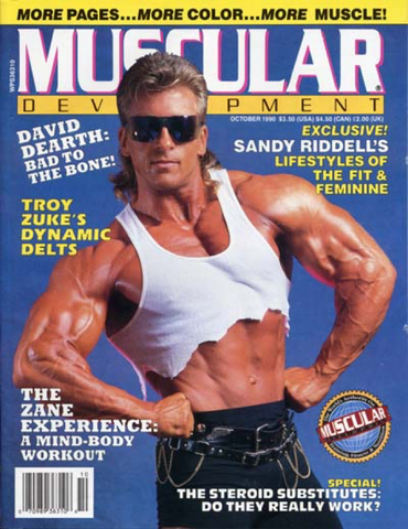 90's Muscle Magazine Cover