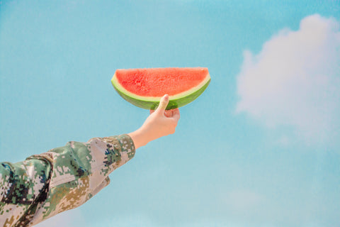 Person Holding Watermelon