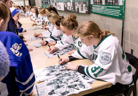 Dartmouth Women's Hockey Poster Signing