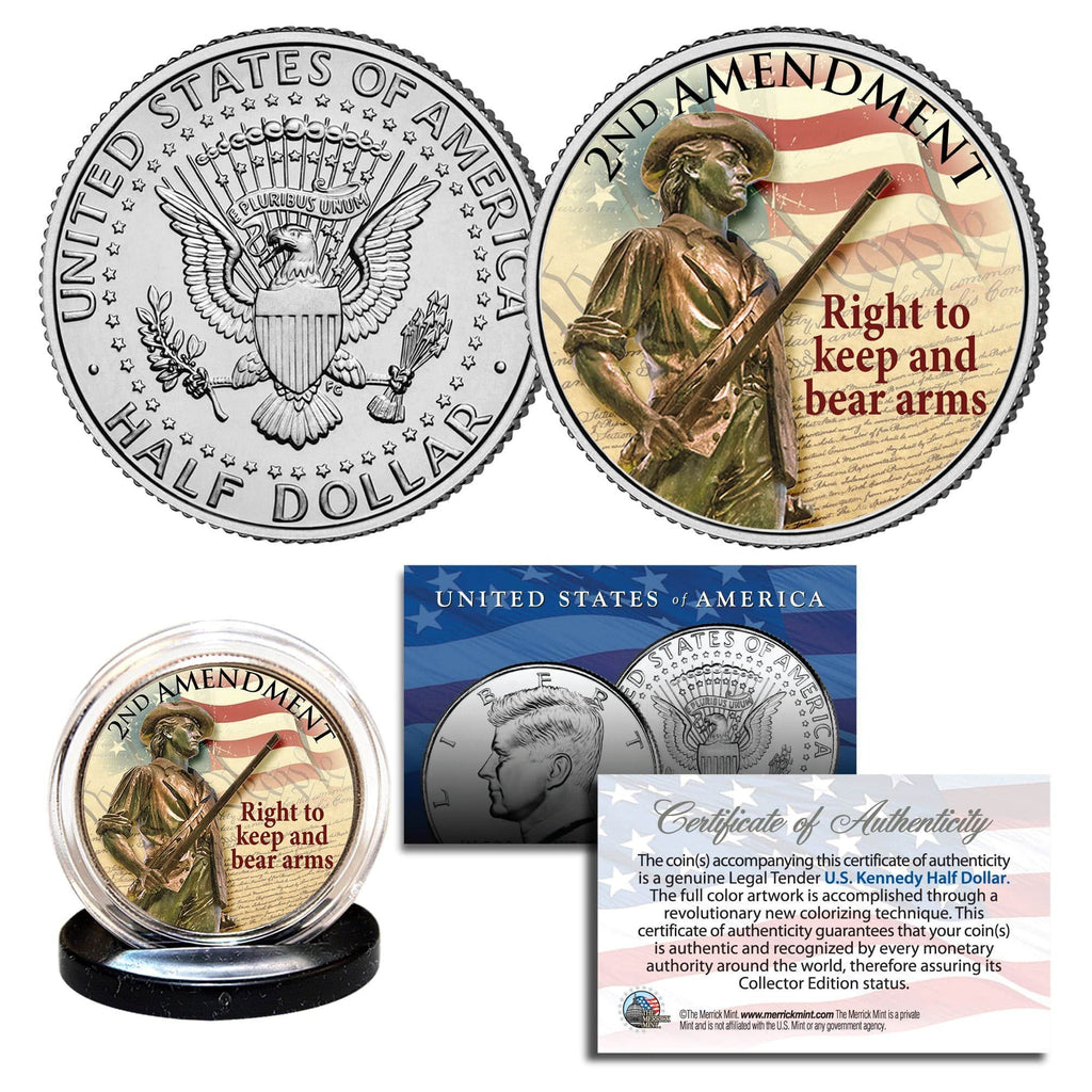 """2nd Amendment"" - Authentic JFK Half Dollar - Proud Patriots"