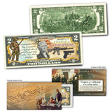 """2nd Amendment"" - Genuine Legal Tender U.S. $2 Bill - Proud Patriots"