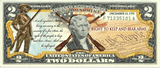 """2nd Amendment"" (Muskets) - Genuine Legal Tender U.S. $2 Bill"