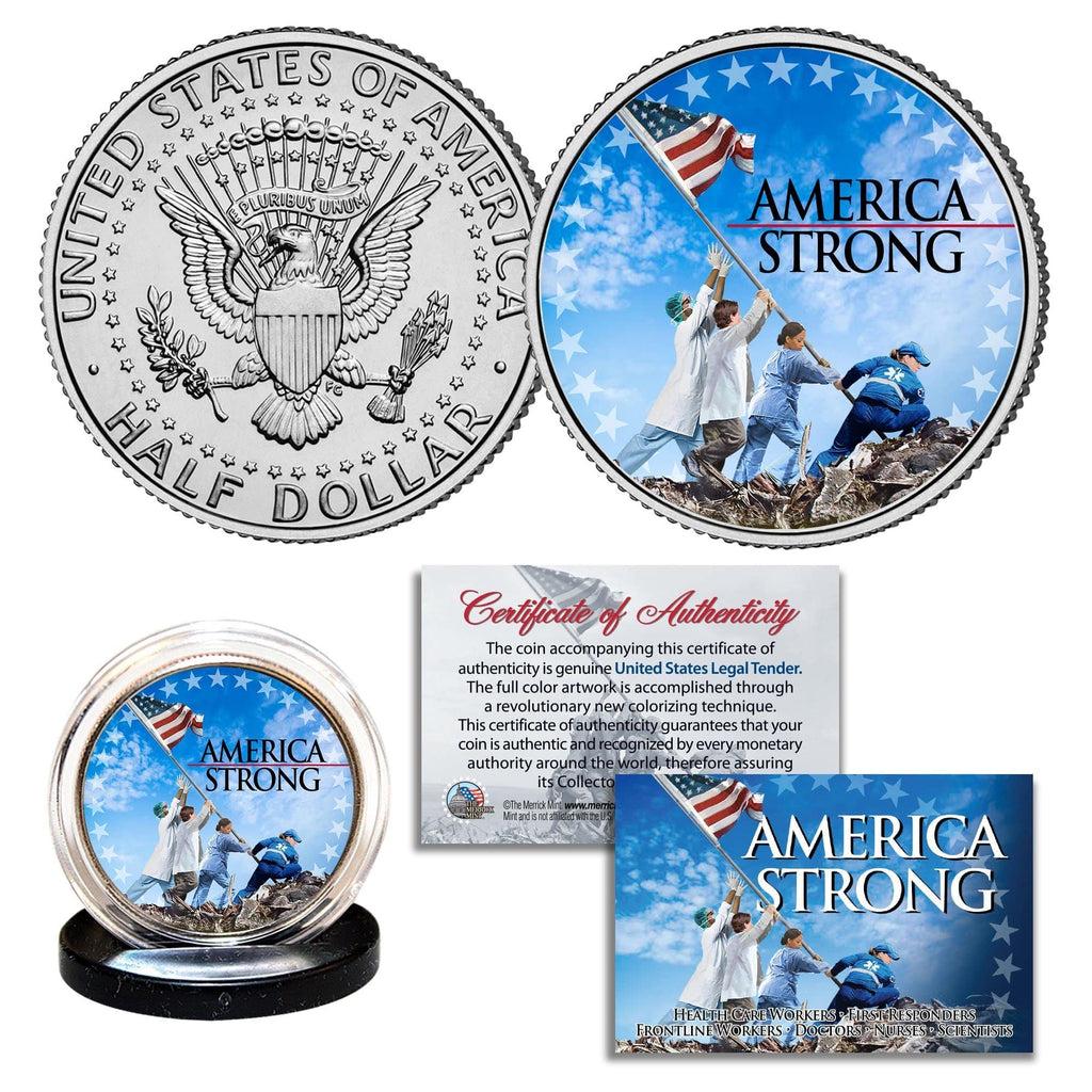 America Strong - Authentic JFK Half Dollar - Proud Patriots