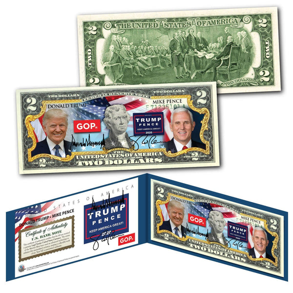 "Donald Trump - ""2020 Election"" - Genuine Legal Tender U.S. $2 Bill - Proud Patriots"