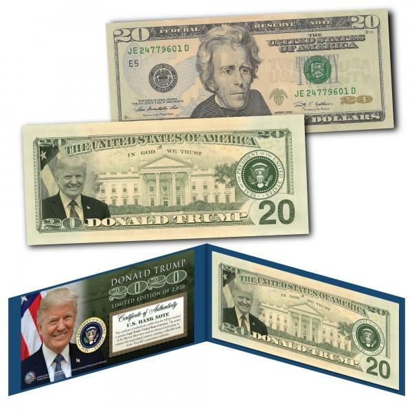 Donald Trump 2020 Genuine Legal Tender $20 U.S. Bill - Only 2,020 Ever Created! - Unicorn Politics Shop