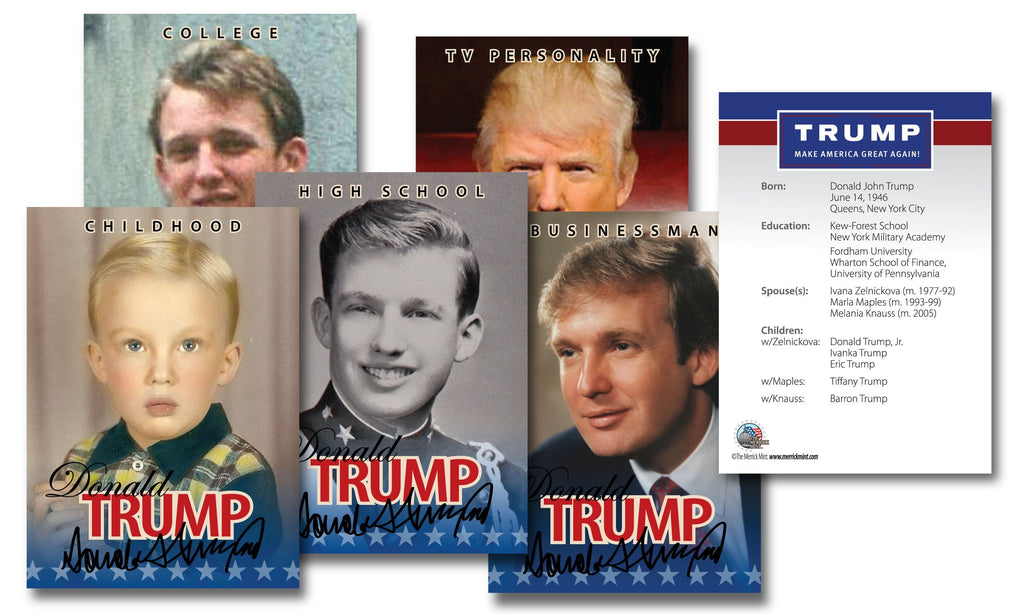Donald Trump 45th President of the United States OFFICIAL * Life & Times * 5-Card Premium Trading Card Set - Proud Patriots