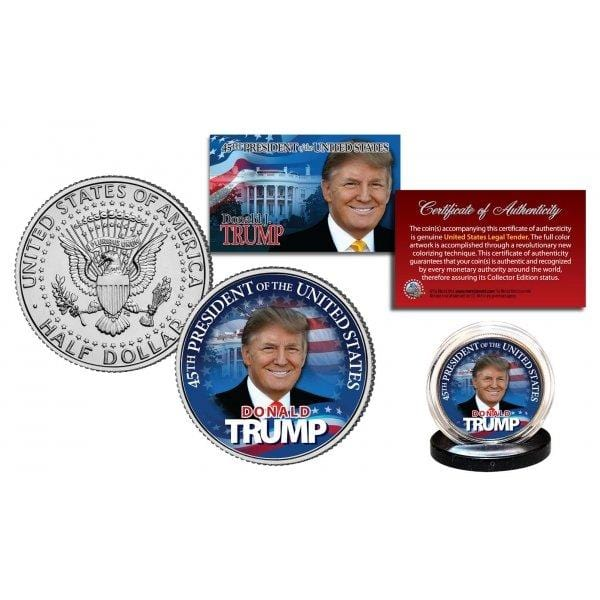 Donald Trump - Limited Edition - Authentic JFK Half Dollar - Unicorn Politics Shop