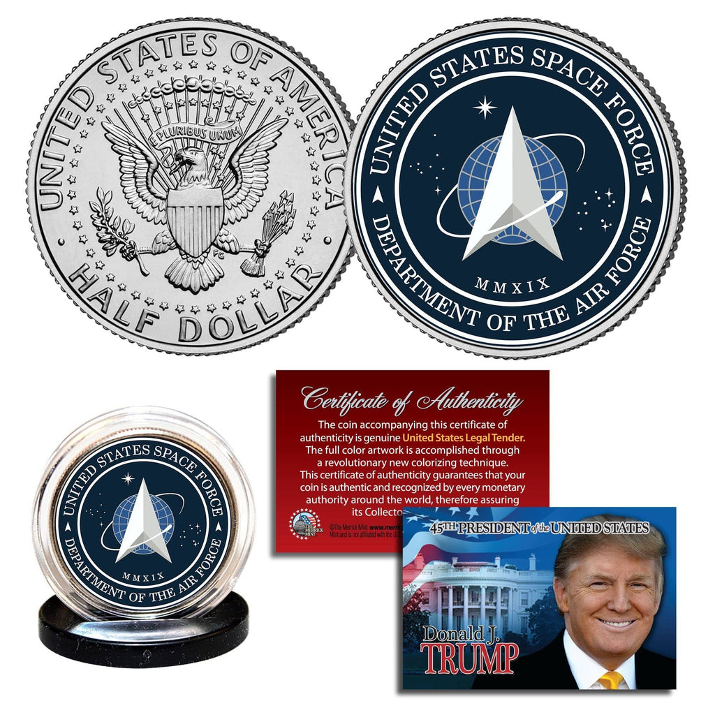 "Donald Trump - ""Space Force"" - Authentic JFK Half Dollar - Unicorn Politics Shop"
