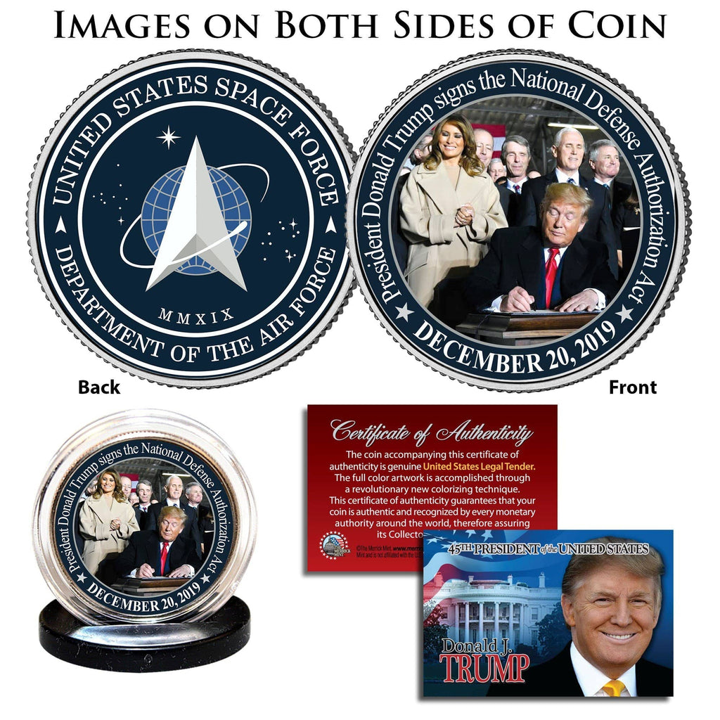 "Donald Trump - ""Space Force"" - Authentic JFK Half Dollar [Double Sided] - Unicorn Politics Shop"