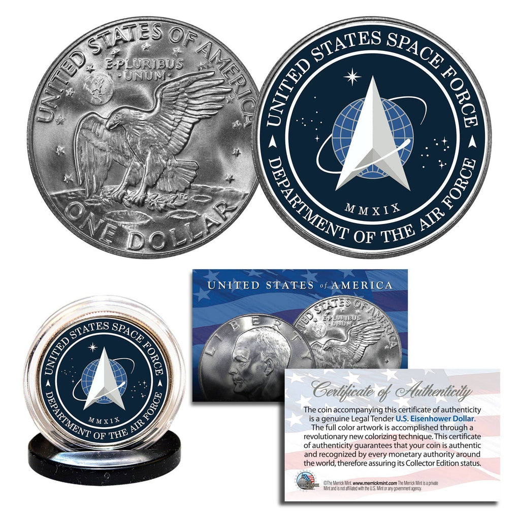 "Donald Trump - ""Space Force"" - Authentic U.S Eisenhower Dollar - Proud Patriots"