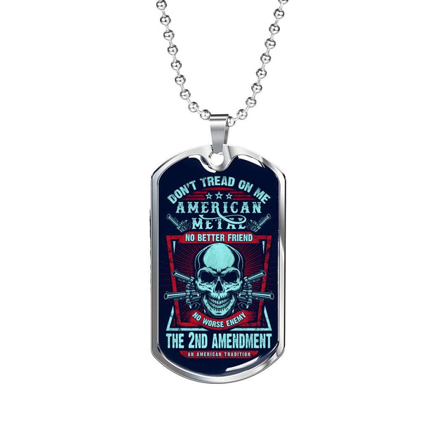 """Don't Tread On Me"" Dog Tag - Proud Patriots"