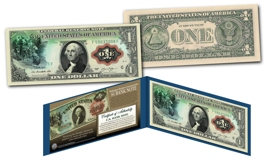 """George Washington"" - Genuine Legal Tender U.S. $1 Bill - Proud Patriots"