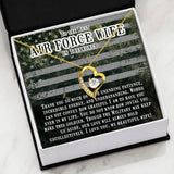 Heart Pendant For Air Force Wives - Proud Patriots