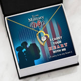 Heart Pendent For Military Wives - Proud Patriots