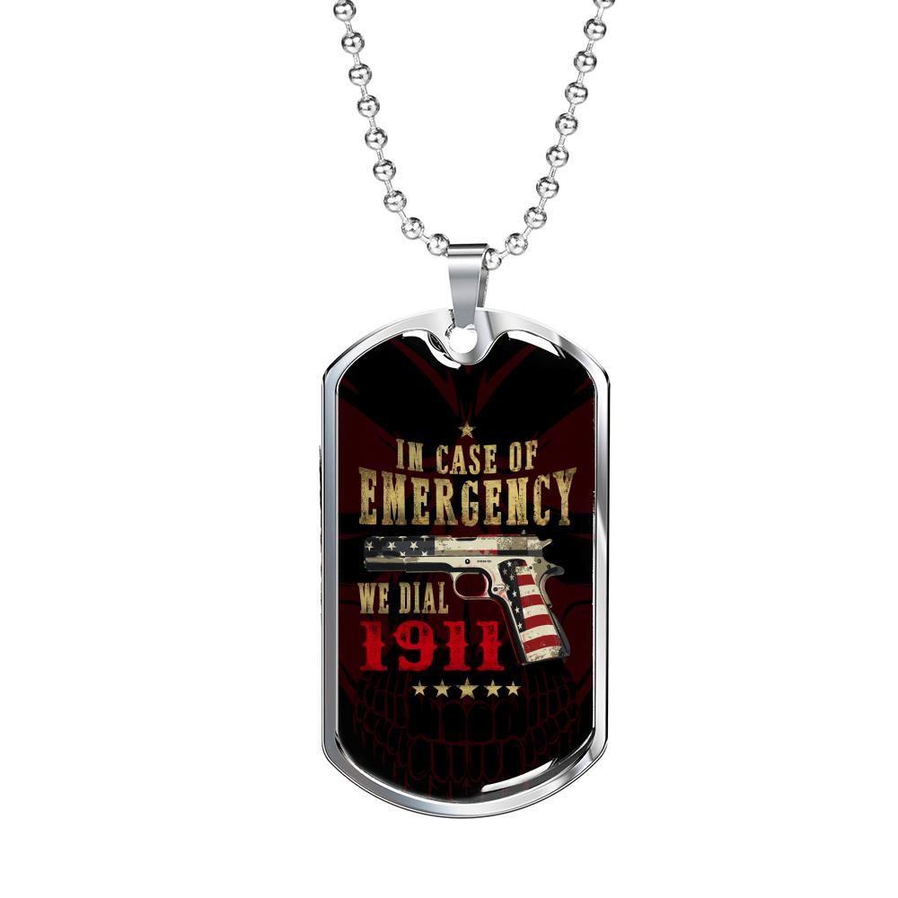 """In Case Of Emergency"" Dog Tag"