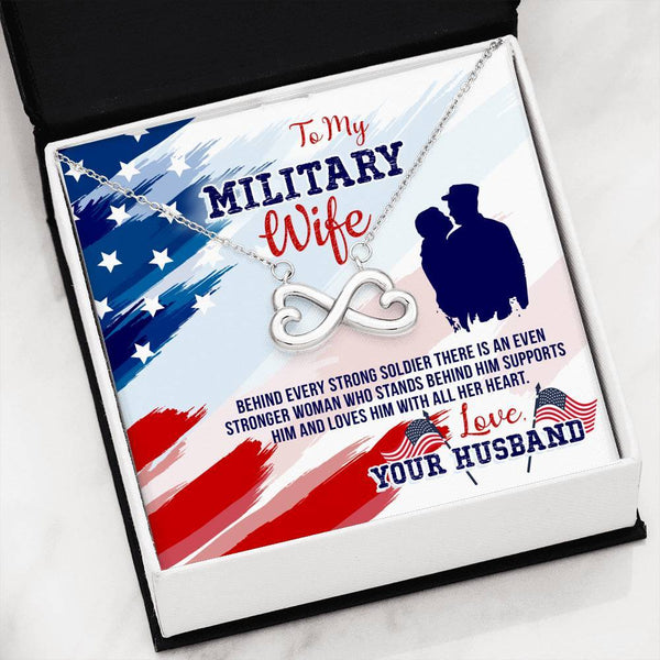 Infinity Necklace For Military Wives - Proud Patriots
