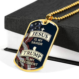 """Jesus Is My Savior"" Dog Tag - Proud Patriots"