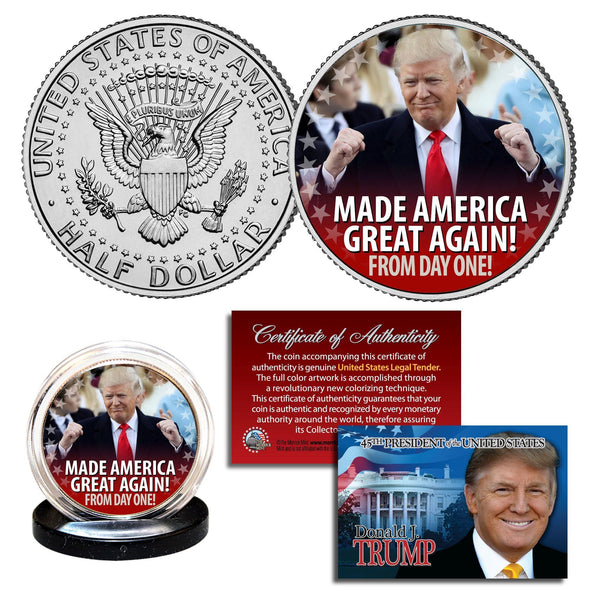 Made America Great Again - Authentic JFK Half Dollar - Proud Patriots