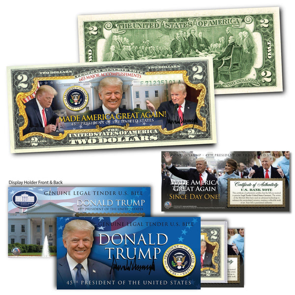 Made America Great Again - Genuine Legal Tender U.S. $2 Bill - Proud Patriots